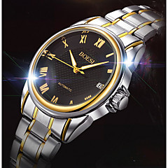 Da uomo Orologio elegante / orologio meccanico Carica automatica Calendario / Resistente all'acqua Acciaio inossidabile BandaCasual /