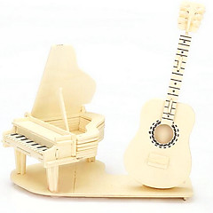 Jigsaw Puzzles 3D Puzzles / Wooden Puzzles Building Blocks DIY Toys Musical Instruments Wood Beige Model & Building Toy