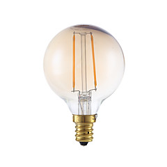 2W E12 Lampadine LED a incandescenza G16.5 2 COB 160 lm Ambra Intensità regolabile V 1 pezzo