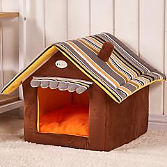 Cat / Dog Bed Pet Mats & Pads Portable Green / Brown / Yellow Plush