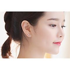 Oorknopjes Clip oorbellen Diamant Kristal Dubbele laag Sexy Modieus Verstelbaar PERSGepersonaliseerd Hypoallergeen Sterling zilver