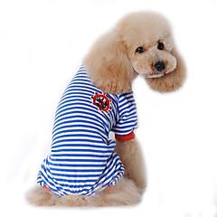 Hunde Jumpsuits Pyjamas Hundetøj Vinter Forår/Vinter Sømand Sød Afslappet/Hverdag Sort Rød Blå