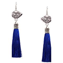 Χωρίς Πετράδι Bowknot Shape Κρεμαστά Σκουλαρίκια Κοσμήματα Γυναικεία Φούντες Μοντέρνα Πάρτι Καθημερινά CausalΑσήμι Στερλίνας Κράμα