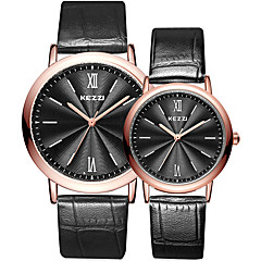 Kezzi Couple's Fashion Quartz Casual Watch Simple Personality Round Alloy Dial Watch Cool Watch Unique Watch