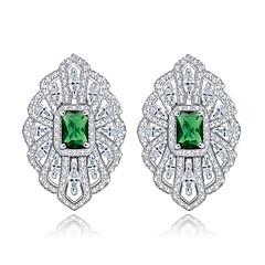 TEEMI AAA Zircon Crystal Rose Flower Shape Stud Earrings Fine Jewelry for Women Wedding