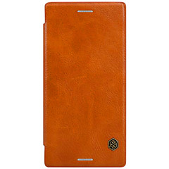Voor Sony Xperia x Performance xa Kaarthouder Flip Case Full Body Hoesje Solid Color Hard Genuine Leather