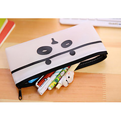 Black And White Cartoon High-Capacity Jelly Glue Pen Bag