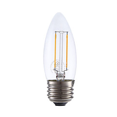2W E26 LED Filament Bulbs B10 2 COB 200 lm Warm White Dimmable 120V 1 pcs