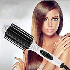 Krøllejern Hårrulle Børste og kam Kun til tørt hår Bevarer krøller For glattere hårTemperatur Kontrol Konstant Temperatur Strømlys