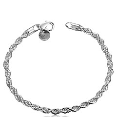 Bangle Bracelets Womens Silver Plated Copper Link Chain Bracelet Jewelry Bridesmaid Gift Christmas Gifts