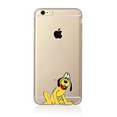 Til Etui iPhone 7 Etui iPhone 6 Etui iPhone 5 Gjennomsiktig Mønster Etui Bakdeksel Etui Hund Myk TPU til AppleiPhone 7 Plus iPhone 7