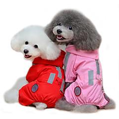 Gatos / Perros Impermeable Rojo / Rosado Ropa para Perro Verano / Primavera/Otoño Un Color A Prueba de Agua