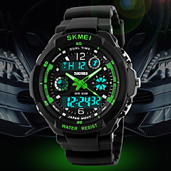 Heren Sporthorloge / Militair horloge / Polshorloge Japanse quartzLED / LCD / Kalender / Waterbestendig / Dubbele tijdzones / alarm /