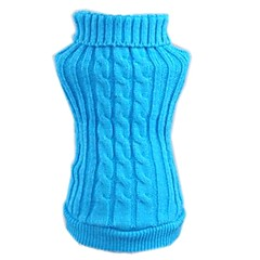 Cat Dog Sweater Dog Clothes Winter Solid Casual/Daily Red Blue