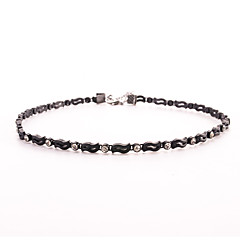 Black Tatoo Unique Punk Style Hollow Leaf Crystal Choker Necklace for Women