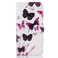 Mert Pénztárca / Kártyatartó / Állvánnyal / Flip / Minta Case Teljes védelem Case Pillangó Kemény Műbőr AppleiPhone 7 Plus / iPhone 7 /