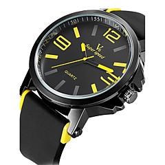 V6 Heren Sporthorloge Militair horloge Dress horloge Modieus horloge Polshorloge Kwarts Japanse quartz Waterbestendig Silicone Band