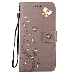 Aescin Butterfly Pattern Embossing Point Drill PU Leather Material Phone Case For iPone 7 7Plus 6S 6Plus SE 5S 4S