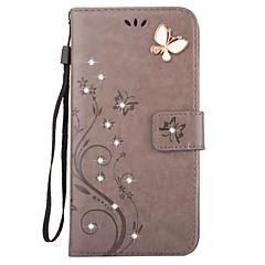 Mert Pénztárca / Kártyatartó / Strassz / Állvánnyal / Flip / Dombornyomott Case Teljes védelem Case Pillangó Kemény Műbőr AppleiPhone 7