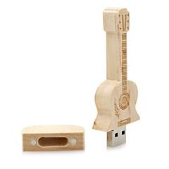 nötr Ürün Wooden Guitar 16GB USB 2.0 Darbeye Dayanıklı