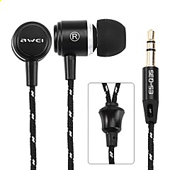 Awei Q35 3.5MM Jack In Ear Earphone Super Bass earphone Music Earphones For IPhone/Samsung/MP3