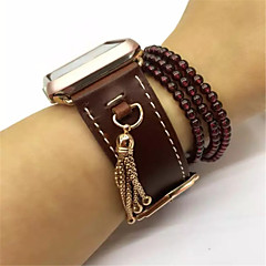Pendant Tassel Genuine Leather Watch Buckle Band Strap Adapter Belt for Apple Watch iwatch