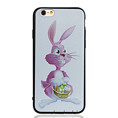 For Pattern Case Back Cover Case Rabbit Soft TPU for Apple iPhone 6s Plus/6 Plus / iPhone 6s/6