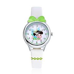 KEZZI للأولاد ساعات فاشن ساعة المعصم ساعة كاجوال كوارتز كوارتز ياباني ساعة كاجوال PU فرقة كارتون عادية الأبيض أزرق أحمر الوردي بنفجسيأبيض
