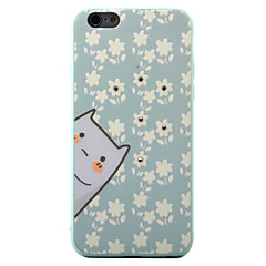 For iPhone 6S 6plus Case Cover  Kitten Pattern Diamond Relief TPU  Acrylic Material Phone Case