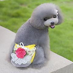 Gatos / Perros Pantalones Amarillo / Verde / Rosado / Beige Ropa para Perro Verano / Primavera/Otoño Flor Adorable / Casual/Diario