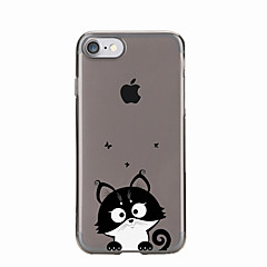 For IPhone 7 7Plus Cartoon Cat Pattern TPU Transparent Soft Back Cover for IPhone 6s 6 Plus 5s 5 5E 5C