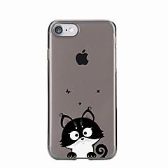 For Gjennomsiktig / Mønster Etui Bakdeksel Etui Katt Myk TPU for AppleiPhone 7 Plus / iPhone 7 / iPhone 6s Plus/6 Plus / iPhone 6s/6 /