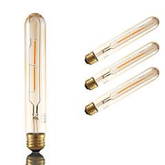 2W E26 Lampadine LED a incandescenza T 2 COB 160 lm Ambra Decorativo / Intensità regolabile AC 110-130 V 4 pezzi