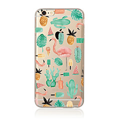 For iPhone 7 etui iPhone 6 etui iPhone 5 etui Gennemsigtig Mønster Etui Bagcover Etui Dyr Blødt TPU for AppleiPhone 7 Plus iPhone 7