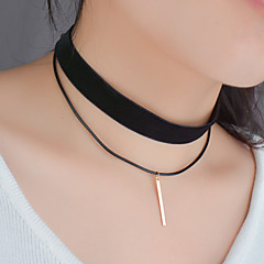Women's Choker Necklaces Pendant Necklaces Jewelry Fabric Line Fashion Black Jewelry Party Halloween Birthday Daily Casual Christmas Gifts