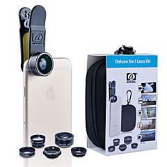 apexel 5 בערכה עדשת המצלמה 1 HD 198fisheye lens0.63x רחב העדשה lenscpl טלה lens2x מאקרו angle15x עבור iPhone 7 6 / 6s 6 / 6s בתוספת se