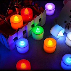 LED Candle Lights T 1 Dip LED 300 lm Red Blue Yellow Green Pink Decorative AC 85-265 V 24 pcs