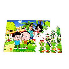 puslespil Pædagogisk legetøj / Puslespil Byggesten DIY legetøj Firkantet 100 Træ Regnbue Hobbylegetøj