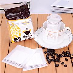 50 set köpürme taşınabilir damla kahve filtre kağıdı, kahve filtre torba filtre,