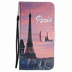 Varten Korttikotelo / Lomapkko / Tuella Etui Kokonaan peittävä Etui Eiffelin torni Kova Tekonahka varten GoogleGoogle Pixel / Google