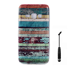For Samsung Galaxy J7 J5 J3 J1 (2016) Case Cover Color Stripes Pattern Super Soft Painting TPU Material Phone CaseTouch Screen Pen