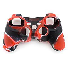 PS3用ツートンカラーシリコン保護ケース(レッド/ブラック)