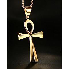 Erkek Kadın Uçlu Kolyeler Mücevher Cross Shape Paslanmaz Çelik Sallantılı Stil Mücevher Uyumluluk Günlük