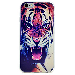For Embossed Tiger Pattern High Quality TPU Shockproof Soft Phone Case for iPhone 7 Plus 7 6s 6
