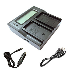 ismartdigi F550 FM500H lcd kettős töltő autós töltő kábel sony np-F550 NP-F330 NP-F530 NP-F570 npf550 FM50 FM500H kamera batterys