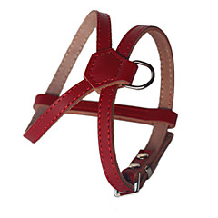 Dog Harness Adjustable/Retractable Handmade Solid Red Black Brown Genuine Leather