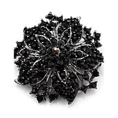 Damskie Broszki Kryształ luksusowa biżuteria Kamień szlachetny Kryształ górski Biżuteria Na Ślub Codzienny Casual