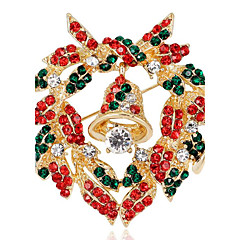 May Polly  Christmas bells wreath all-match Brooch