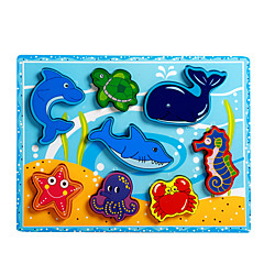 직소 퍼즐 교육용 장난감 / 직쏘 퍼즐 빌딩 블록 DIY 장난감 돌핀 / 물고기 용품 / 문어 / 크로커다일 8 나무 무지개