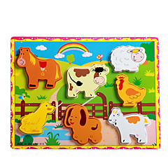 직소 퍼즐 교육용 장난감 / 직쏘 퍼즐 빌딩 블록 DIY 장난감 Rabbit / 고양이 / 애완견 용품 / 돼지 8 나무 무지개 레져 취미용품
